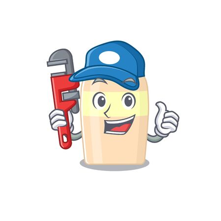 cartoon character design of toner as a Plumber with tool  イラスト・ベクター素材