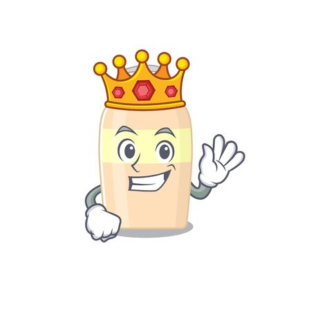A Wise King of toner mascot design style with gold crown  イラスト・ベクター素材