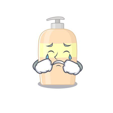 Caricature design of toner having a sad face