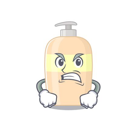 A cartoon picture of toner showing an angry face  イラスト・ベクター素材