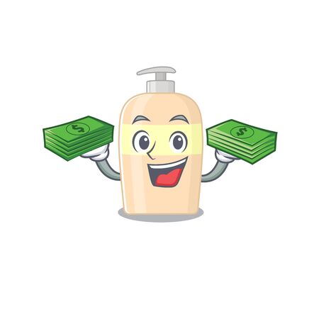 A wealthy toner cartoon character with much money  イラスト・ベクター素材
