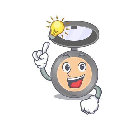genius highlighter Mascot character has an idea gesture