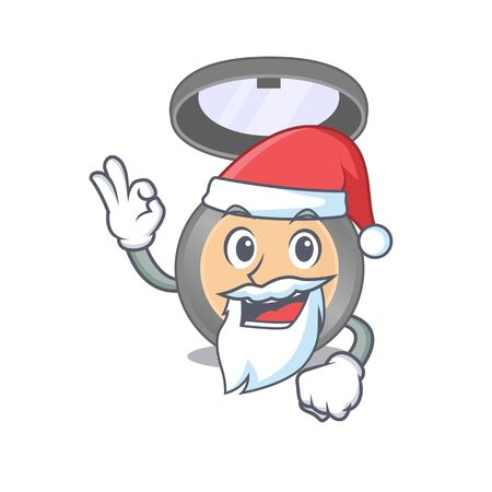 cartoon character of highlighter Santa with cute ok finger