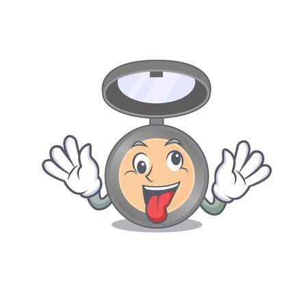A mascot design of highlighter having a funny crazy face