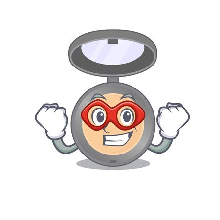 A cartoon mascot of Highlighter in a fantastic Super hero character Иллюстрация