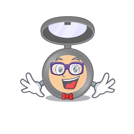 A caricature drawing of nerd highlighter wearing weird glasses. Vector illustration