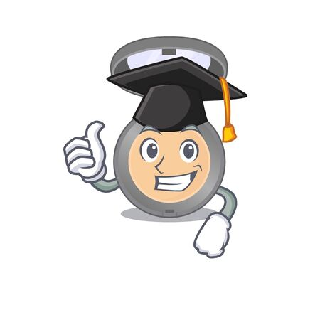 Highlighter caricature picture design with hat for graduation ceremony