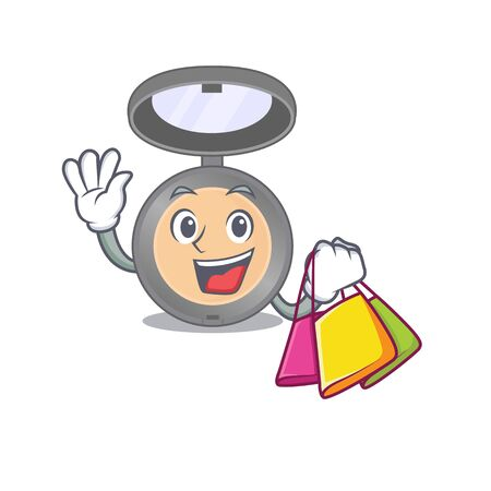 Highlighter wealthy cartoon character concept with shopping bags. Vector illustration
