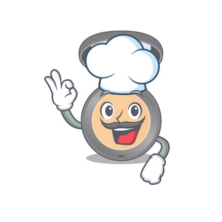 Highlighter chef cartoon drawing style wearing iconic chef hat. Vector illustration