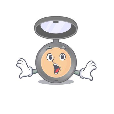 Highlighter mascot design concept showing a amazed gesture. Vector illustration