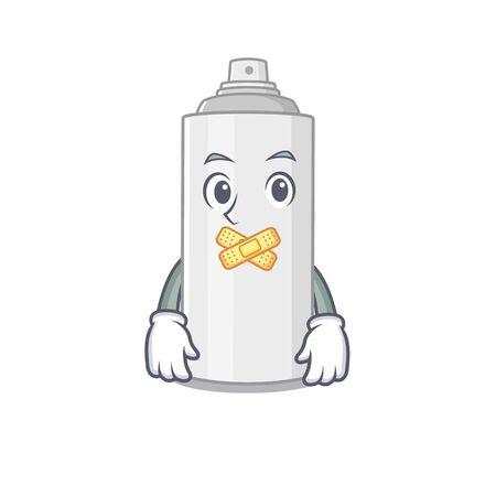 Hair spray cartoon character style having strange silent face. Vector illustration Ilustração