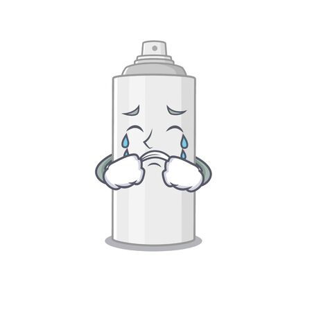 Caricature design style of hair spray with a sad face. Vector illustration Vectores