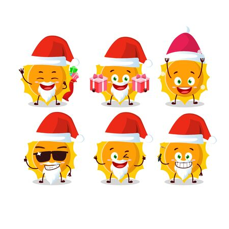 Santa Claus emoticons with sun cartoon character.Vector illustration 일러스트