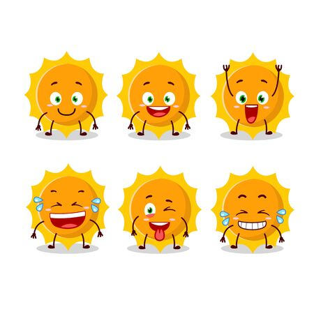 Cartoon character of sun with smile expression 일러스트