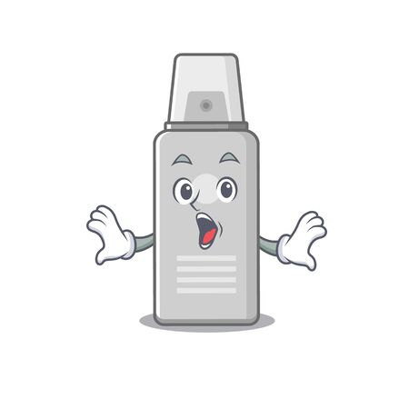 Shaving foam mascot design concept showing a amazed gesture. Vector illustration Ilustracja