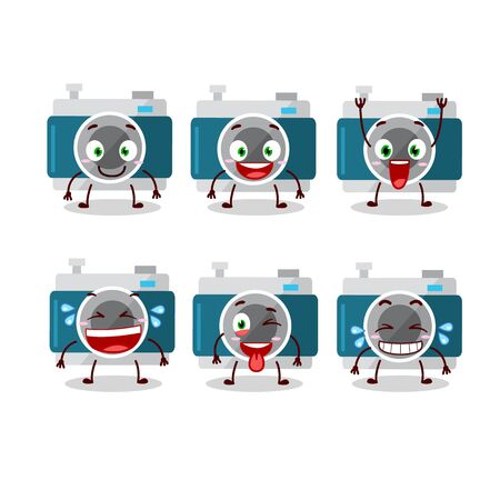 Cartoon character of camera pocket with smile expression.Vector illustration