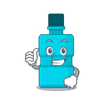 Mouthwash cartoon picture design showing OK finger pose Illustration