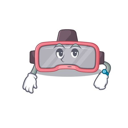 Mascot design style of vr glasses with waiting gesture. Vector illustration Vettoriali