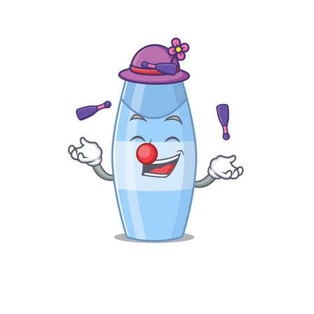 A shampoo cartoon design style love playing juggling Vettoriali