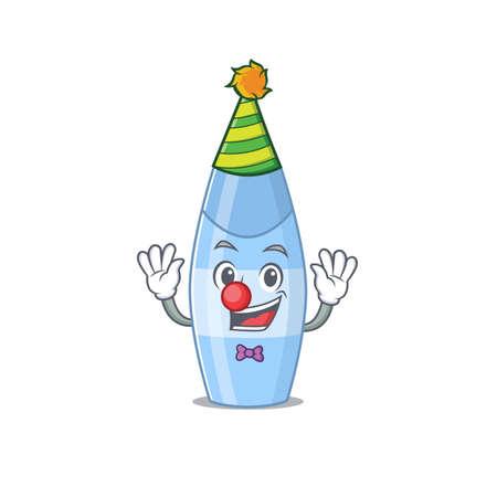 Friendly clown shampoo mascot character design concept