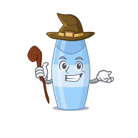 sneaky witch shampoo cartoon character design style. Vector illustration Ilustracja