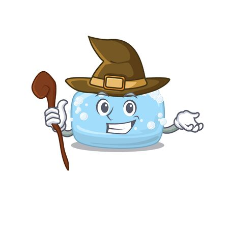 sneaky witch soap cartoon character design style. Vector illustration