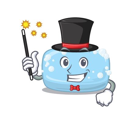 A smart Magician of soap caricature design style. Vector illustration Ilustracja