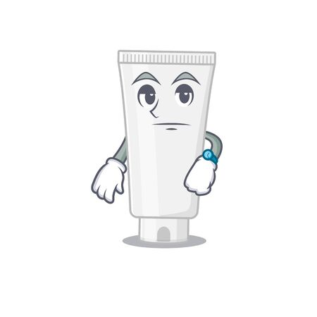 Mascot design style of shower gel with waiting gesture. Vector illustration Vettoriali