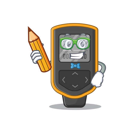 A student dive computer mascot design study at home during pandemic. Vector illustration