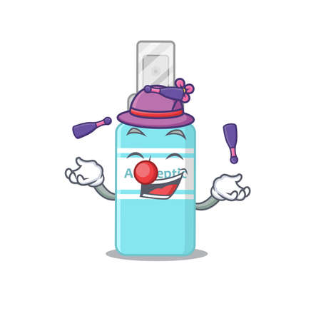 A antiseptic cartoon design style love playing juggling. Vector illustration