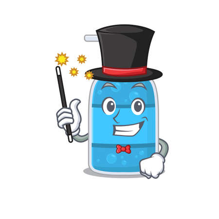 A gorgeous smart Magician of hand wash gel cartoon design style Vettoriali