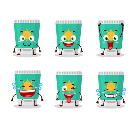 Cartoon character of sunblock with smile expression. Vector illustration 矢量图像
