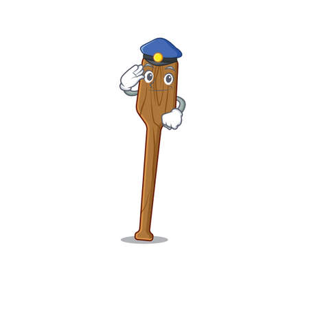 Police officer cartoon drawing of oars wearing a blue hat. Vector illustration Çizim