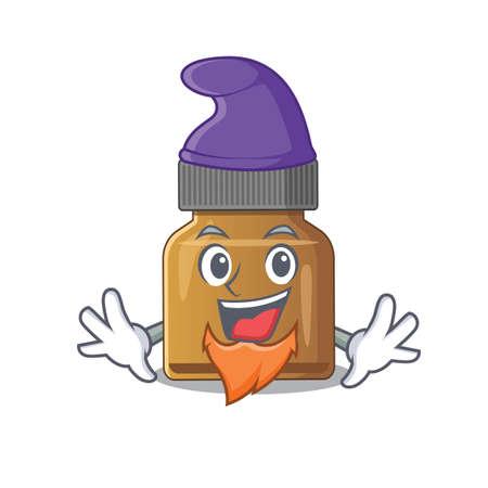 An adorable cartoon design of bottle vitamin b as an Elf fairytale character. Vector illustration