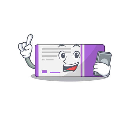 caricature character design style of medicine box speaking on phone