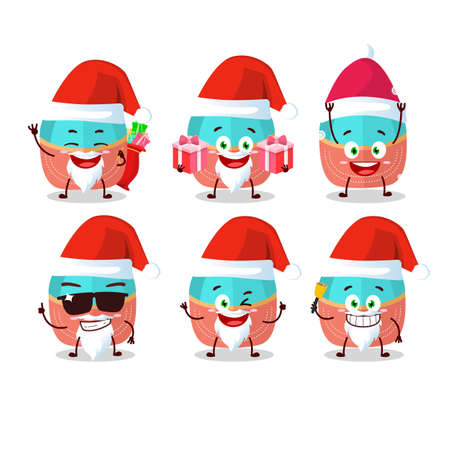 Santa Claus emoticons with hat cartoon character