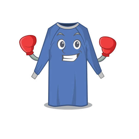 Mascot design of disposable clothes as a sporty boxing athlete. Vector illustration
