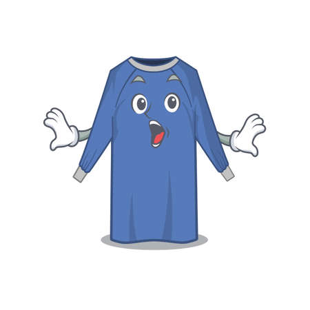 disposable clothes mascot design concept having a surprised gesture. Vector illustration