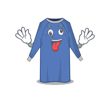 A mascot design of disposable clothes having a funny crazy face. Vector illustration Vektorové ilustrace