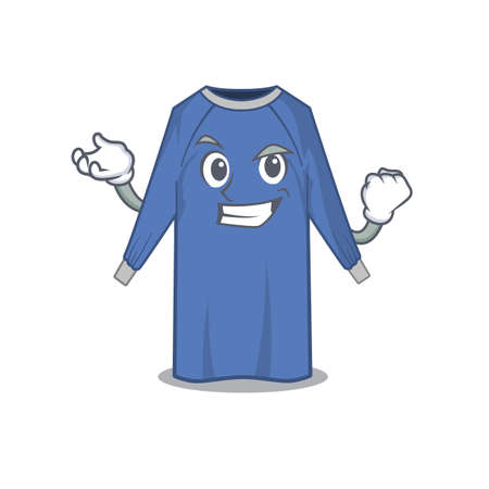 A funny cartoon design concept of disposable clothes with happy face. Vector illustration