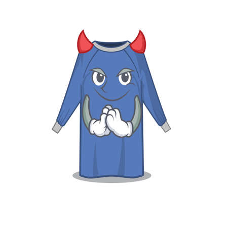 disposable clothes clothed as devil cartoon character design concept. Vector illustration