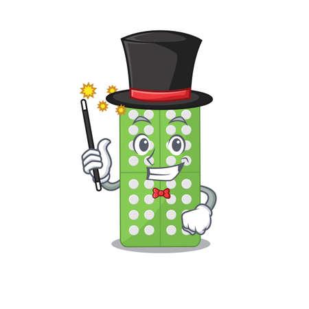 A smart Magician of medicine pills caricature design style. Vector illustration