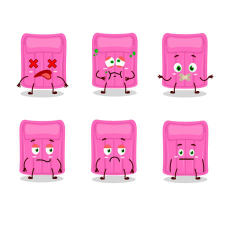 Air mattress cartoon character with nope expression. Vector illustration Stock Illustratie