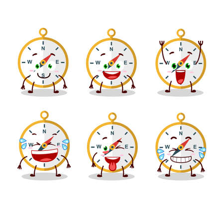 Cartoon character of compass with smile expression. Vector illustration Ilustrace