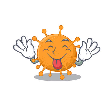 Funny anaplasma cartoon design with tongue out face.Vector illustration 矢量图像