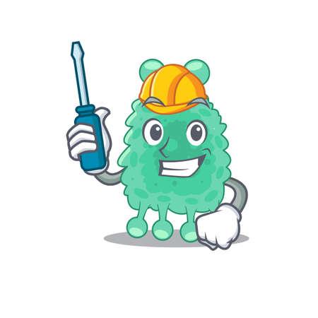 Azotobacter vinelandii caricature design concept worked as an automotive