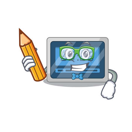 A clever student digital timer cartoon character study at home