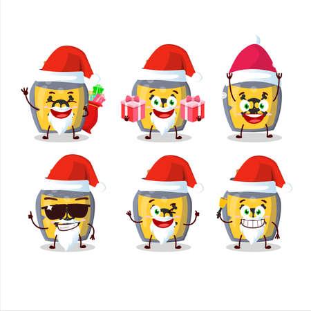 Santa Claus emoticons with dangerous potion cartoon character Illusztráció