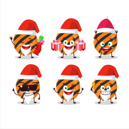 Santa Claus emoticons with halloween stripes candy cartoon character 向量圖像