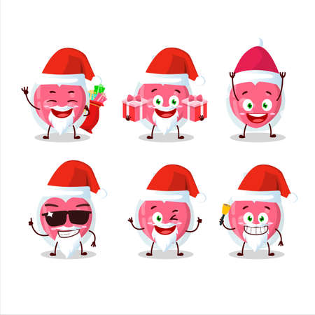 Santa Claus emoticons with love potion cartoon character Illusztráció